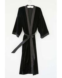 Urban Outfitters Spellbound Velvet Robe - Black