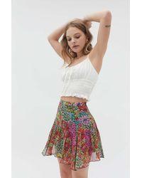 Urban Outfitters Uo Vera Flippy Mini Skirt - Multicolor