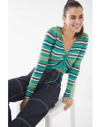fbdea204ac Urban Outfitters - Uo Cinch-front Striped Sweater - Lyst