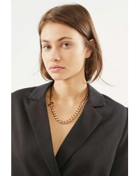 Urban Outfitters Harley Toggle Chain Necklace - Metallic