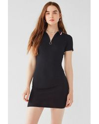Urban Outfitters - Uo Half-zip Polo Mini Dress - Lyst