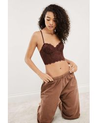 Out From Under Lana Lace Corset - Brown
