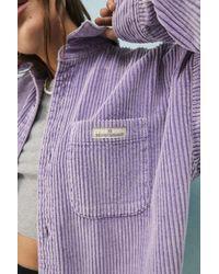 BDG Jumbo Corduroy Shacket - Purple