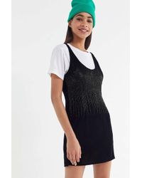 Urban Outfitters - Uo Blackberry Sparkly Embroidered Mini Dress - Lyst b956faedc