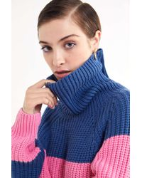 Lazy Oaf - Striped Turtleneck Sweater Dress - Lyst