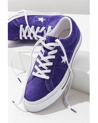 Converse - Converse One Star Suede Sneaker - Lyst