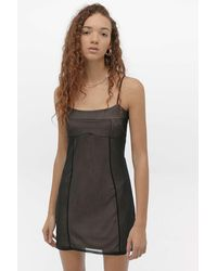 Urban Outfitters - Uo Naomi Lined Slip Mini Dress - Lyst