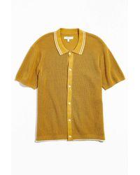 Standard Cloth Waffle Stitch Polo Shirt - Yellow