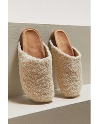 Urban Outfitters Uo Heidi Shearling Clog - White