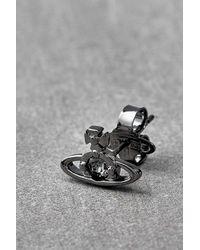 Vivienne Westwood Nano Solitaire Single Stud Earring - Black