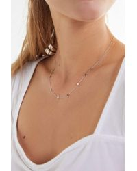 Urban Outfitters - Mini Star Charm Necklace - Lyst