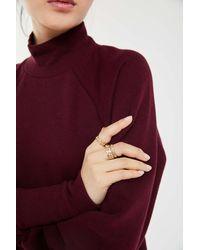 Urban Outfitters Ciara Chain Ring Set - Metallic