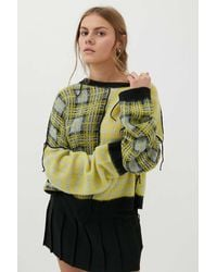 The Ragged Priest Bystander Spliced Sweater - Multicolor