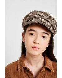 Urban Outfitters - Checked Baker Boy Hat - Lyst