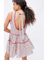 Glamorous Cherry Low Tie-back Mini Dress - Red