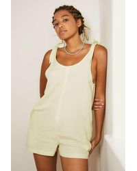 Out From Under Bunny Tie-up Beach Playsuit - Green