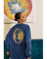 Urban Outfitters Uo Sun & Moon Long Sleeve Skate T-shirt - Blue