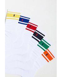 Polo Ralph Lauren Uo Exclusive Stripe Crew Sock 6-pack - Blue