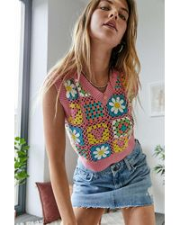 Urban Outfitters - Uo Crochet Daisy Tank Top - Lyst