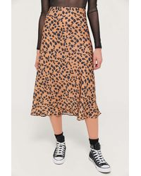 Urban Outfitters Uo Rowan Midi Slip Skirt - Multicolor