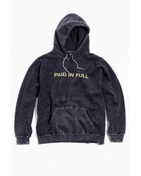 Urban Outfitters Paid In Full Hoodie Sweatshirt - Black