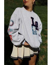Urban Outfitters La Patch Crew Neck Sweatshirt - Grey