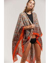 Urban Outfitters Uo Essential Kimono - Multicolor