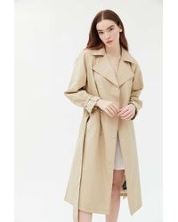 Urban Outfitters Uo Margot Belted Trench Coat - Natural