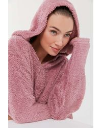 Urban Outfitters Uo Tilly Cozy Faux Fur Hoodie Sweatshirt - Multicolor