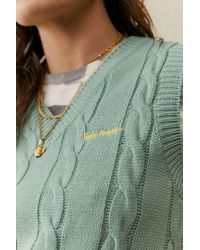 iets frans... Cable Sweater Vest - Green