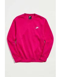 Nike Sportswear Club Fleece Crew Neck Sweatshirt - Pink