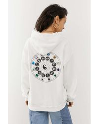 Urban Outfitters Uo Birth Chart Skate Hoodie - White