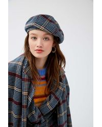 Urban Outfitters Uo Frenchie Checkered Beret - Multicolour