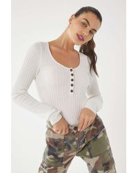 9367711f7a Urban Outfitters - Uo Babe Ribbed Knit Pullover Sweater - Lyst