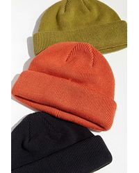 Urban Outfitters Uo Short Roll Beanie - Multicolor