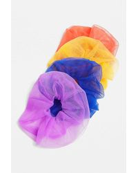 Urban Outfitters Oversized Mesh Scrunchie - Purple