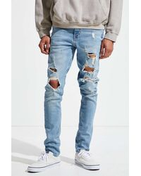 BDG Extreme Destructed Skinny Jean - Blue