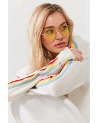 Urban Outfitters - Fiona Translucent Aviator Sunglasses - Lyst