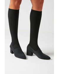 Urban Outfitters Thin Ribbed Knee-high Sock - Black