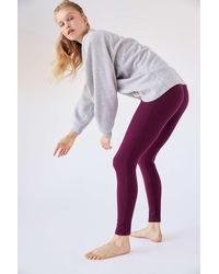 Out From Under Rory Ribbed Legging - Purple