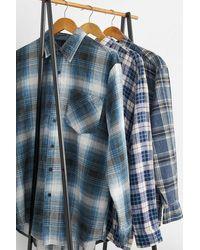 Urban Renewal - Vintage Blue Check Flannel Shirt - Lyst