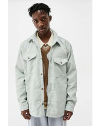 Urban Outfitters Uo Mint Chenille Check Over-shirt - Multicolour