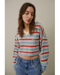 Kickers Striped V-neck Knitted Jumper - Multicolour