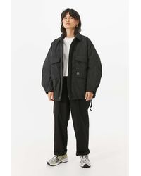 Urban Outfitters Uo Rene Padded Black Utility Jacket