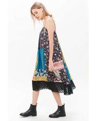 Kimchi Blue Mae Patchwork Midi Dress - Blue