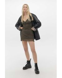 Urban Outfitters Uo Elodie Gingham Check Mini Dress - Multicolour