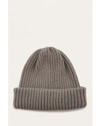 Urban Outfitters - Uo Taupe Ribbed Beanie - Lyst
