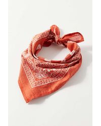 Urban Outfitters Uo Cotton Bandana - Red