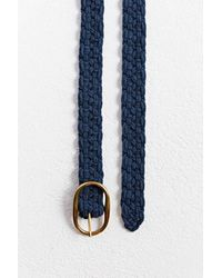 Urban Outfitters Woven Knit Belt - Blue