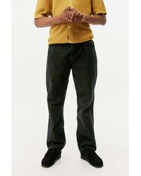 The Ragged Priest Charcoal Wave Print Jeans - Grey